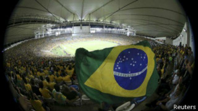 Bandeira do Brasil em jogo da Copa das Confederações (Getty/Arquivo)