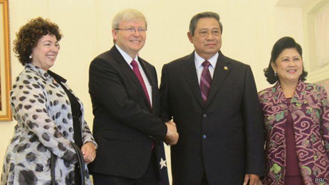 Saat bertemu di Istana Bogor, PM Rudd dan Presiden Yudhoyono meminta negara asal imigran gelap ikut bertanggung jawab dalam isu pencari suaka.
