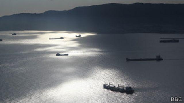 Algeciras desde Gibraltar