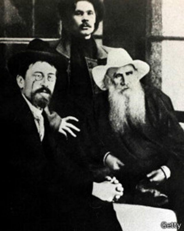 تولستوی، گورکی و چخوف، 1900 میلادی