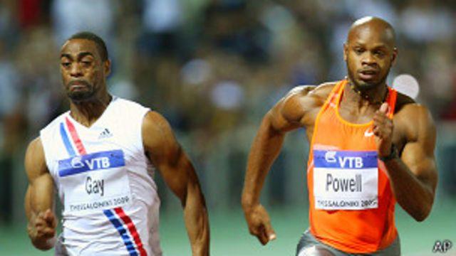 Tyson Gay y Asafa Powell