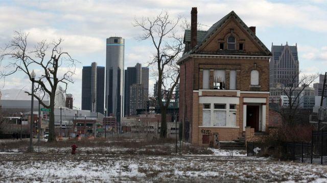 Vista de Detroit, Michigan