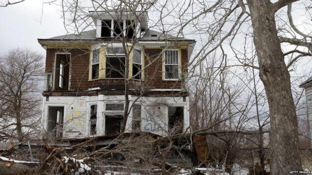 Edificio abandonado en Detroit