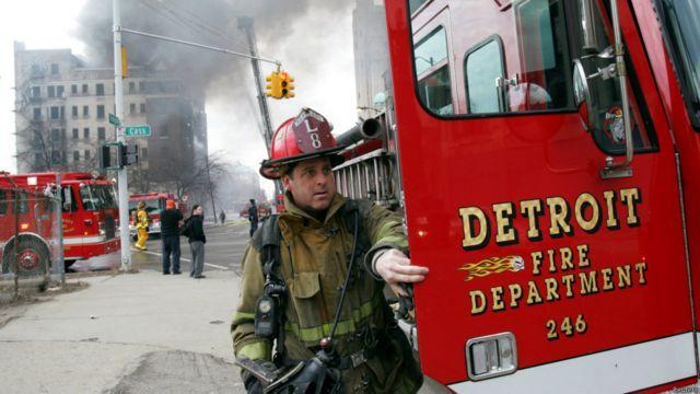 Bombero en Detroit