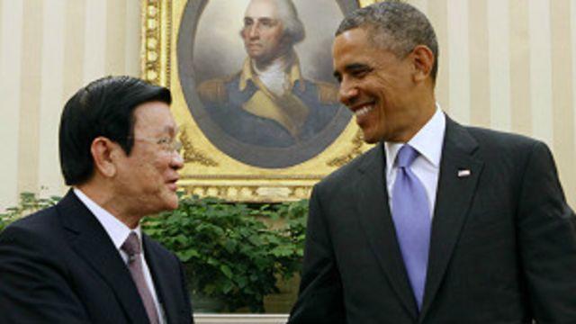 Lãnh đạo hai nước Việt Nam và Hoa Kỳ gặp nhau ở Nhà Trắng ngày 25/7