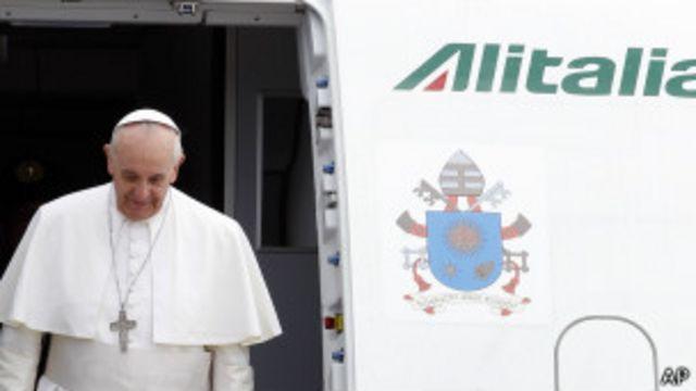 Папа Франциск по возвращении в Рим