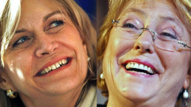 Evelyn Matthei y Michelle Bachelet