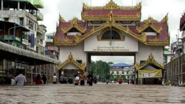 ကရင်ပြည်နယ်အတွင်းမှာ မြဝတီမြို့က အဆိုးဝါးဆုံး ရေကြီးမှုနဲ့ ရင်ဆိုင်ခဲ့ရ