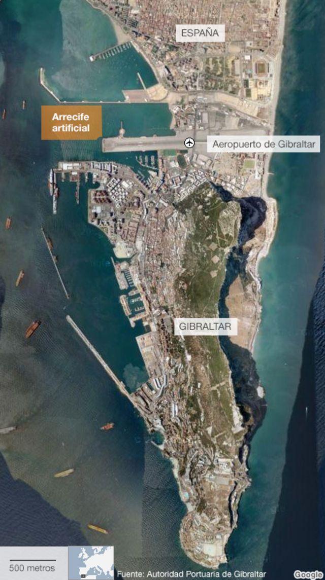 Mapa de Gibraltar