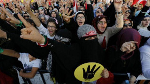 မွတ်ဆလင် ညီနောင်များ အဖွဲ့ကတော့ ဆန္ဒပြ မှုတွေ ထပ်လုပ်ဖို့ ဆော်သြထား ပါတယ်