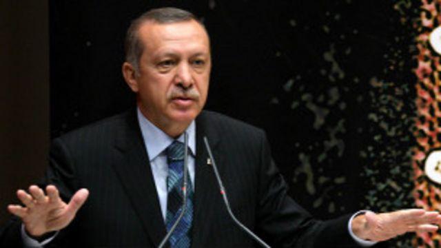 ဆီးရီးယား အရေးကိစ္စ ရှင်းပြနေတဲ့ တူရကီ ဝန်ကြီးချုပ် Recep Tayyip Erdogan