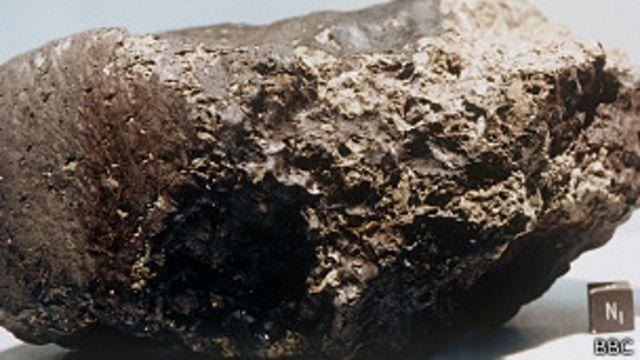 Meteorito | Crédito: BBC