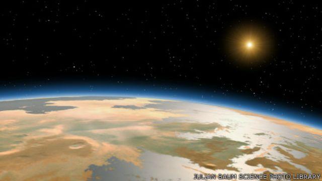 Предполагаемая поверхность Марса