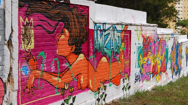 Oco Sapiens  သချိုင်းမှာ ရေးဆွဲထားတဲ့ နံရံရေး ပန်းချီ