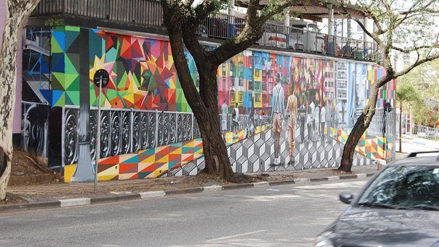 Eduardo Kobra ဆိုတဲ့ နာမယ်ကြီး ပန်းချီ ဆရာရဲ့ လက်ရာကို Calvary Church နံရံမှာ တွေ့ရ