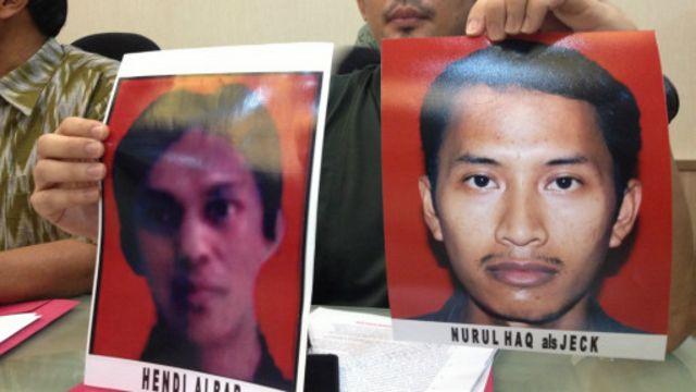 Polda merilis dua foto terduga kasus penembakan aggota kepolisian.