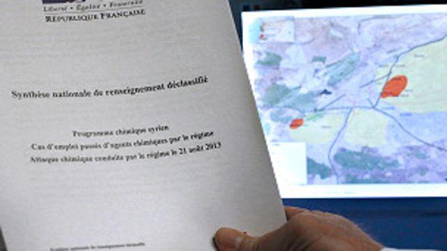 ဓါတုပစ္စည်းသုံး တိုက်ခိုက်မှုနဲ့ ပတ်သက်လို့ ထုတ်ပြန်တဲ့ ပြင်သစ် အစိုးရ အစီရင်ခံစာ