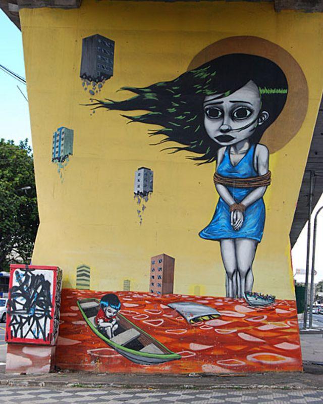 Binho Ribeiro နဲ့ Chivitz တို့က ဒေသန္တရ အာဏာပိုင်တွေနဲ့ ပေါင်းပြီး နံရံရေး ပန်းချီတွေ ချယ်မှုန်းပြီ