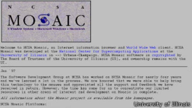 Interfaz de Mosaic