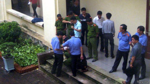 Vụ việc xảy ra vào chiều ngày 11/09 tại Ủy ban Nhân dân TP Thái Bình.