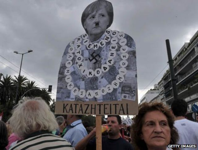 Protesta contra Merkel