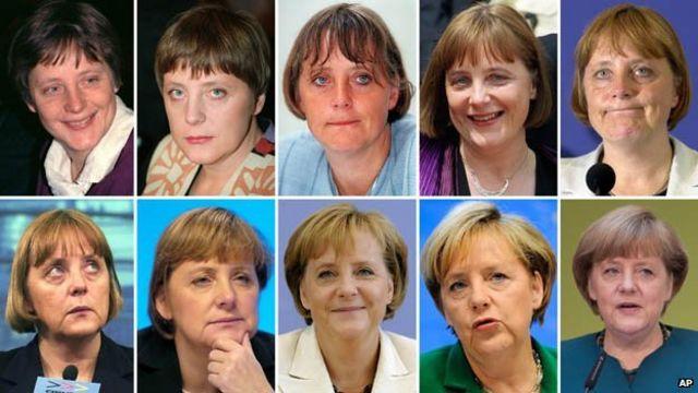 Colage de Angela Merkel