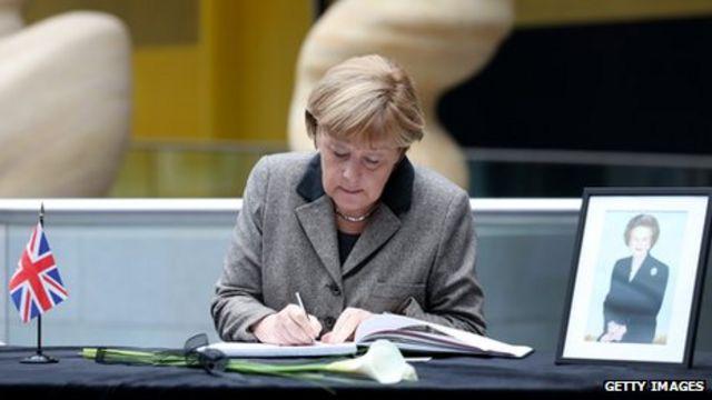 Merkel en Reino Unido