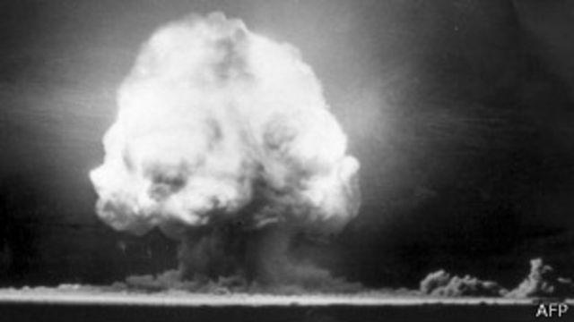 Prueba nuclear en Nuevo México en 1945