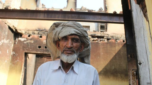 मुज़फ़्फ़रनगर दंगे मे तबाह घर