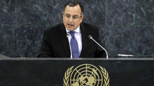 جاءت الكلمة في كلمة مصر أمام الجمعية العامة للأمم المتحدة في نيويورك.