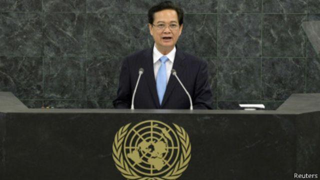 Ông Nguyễn Tấn Dũng phát biểu tại Đại hội đồng LHQ