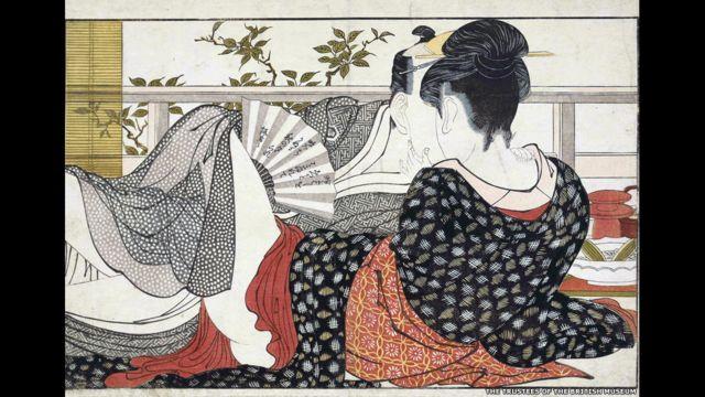 """صور شونغا """"الجنس والمتعة"""" في اليابان تعرض في المتحف البريطاني من 3 أكتوبر/ تشرين الأول 2013 إلى 5 يناير كانون الثاني 2014."""