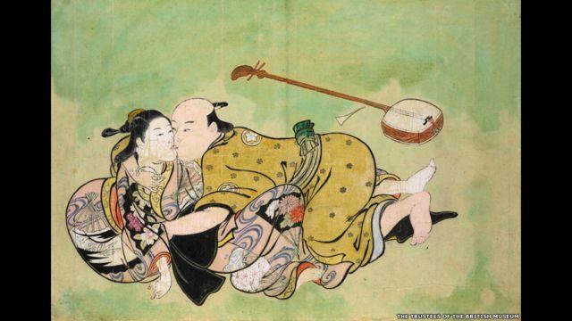 والأعمال هي رسوم على قطع خشبية أنجزت في طوكيو في القرن السادس عشر والسابع عشر والثامن عشر، وتبين عددا من العمليات الجنسية، بتفاصيلها الدقيقة.