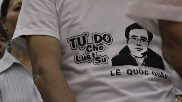 Ông Lê Quốc Quân là một trong những luật sư bất đồng chính kiến nổi tiếng ở Việt Nam