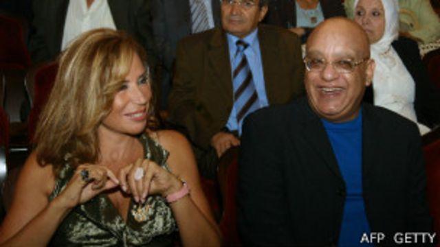 المخرجة ايناس الدغيدي في حفل استقبال بمهرجان الاسكندرية السينمائي الدولي