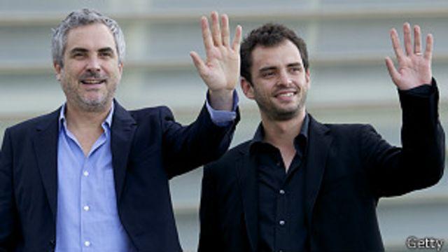 Alfonso Cuarón con su hijo Jonás