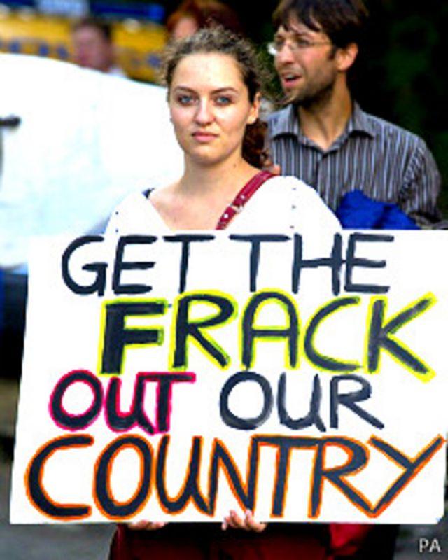 Protestas contra el fracking en Inglaterra
