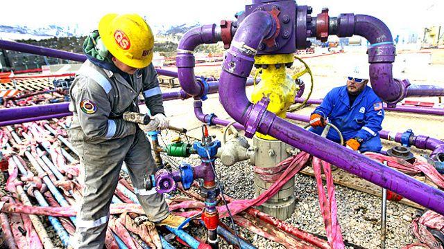 Operación de fracking en EE.UU.