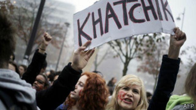Демонстрация учащихся средних школ в Париже