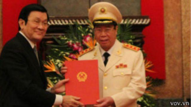 Chủ tịch Trương Tấn Sang thăng hàm Thượng tướng cho Thứ trưởng Công an Bùi Văn Nam