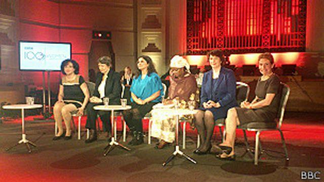 Inicio del debate de las 100 mujeres en la sede de BBc