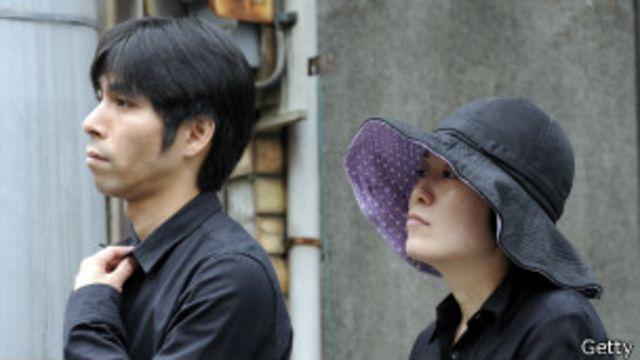 Hombre y mujer japoneses