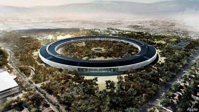 Recreación de la nueva sede de Apple