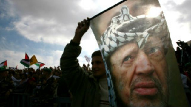 الفلسطينيون يعتقدون بأن إسرائيل سممت عرفات