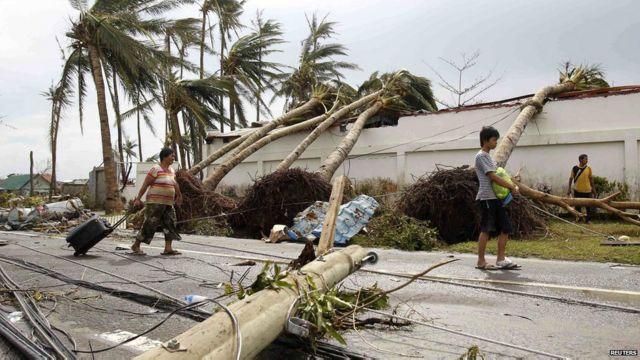 Devastación en Filipinas