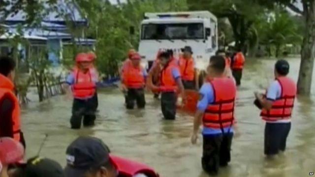 Devastación en Filipinas.