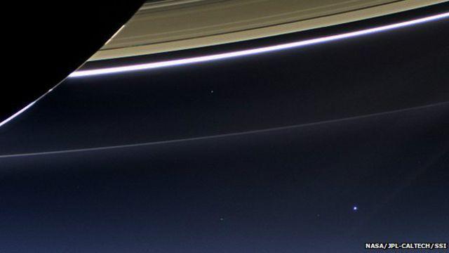 La Tierra, vista de Saturno
