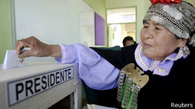 Mapuche votando