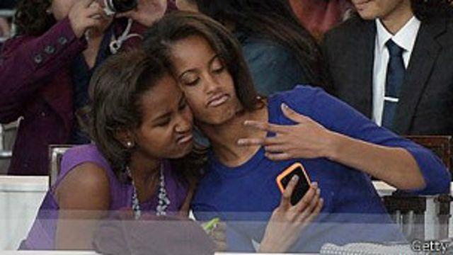 Selfie das filhas do Obama | Crédito: Getty
