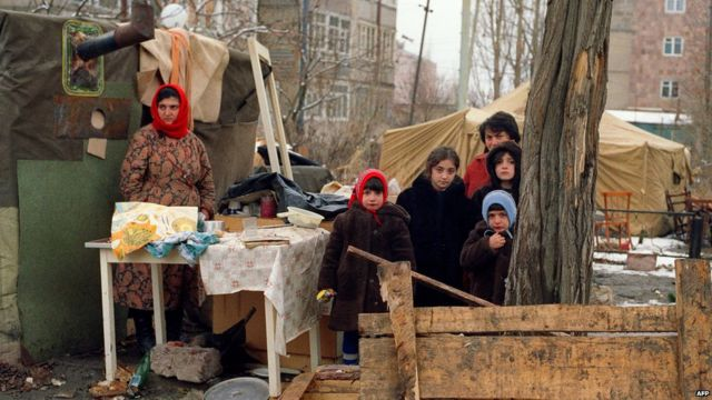 Çadır düşərgəsində, 15 Dekabr, 1988-ci il, AFP